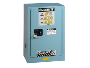 Justrite Sure-Grip Ex Compac Cabinets for Corrosives - 1 Door Self-Close - 35 in. x 23.5 in. x 18 in. - 12 - 1