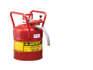 Justrite 5 Gal UNO D.O.T. Safety Gas Can For Flammables w/ 1 in. Spout (Red)