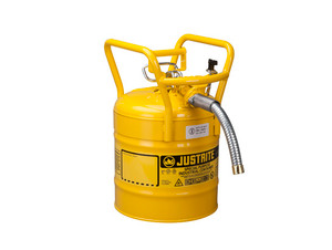 Justrite 5 Gal UNO D.O.T. Safety Gas Can For Flammables w/ 1 in. Spout (Yellow)