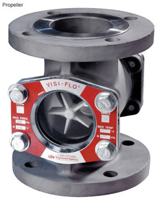 OPW 1 1/2 in. 316 Stainless Steel VISI-FLO 1400 Series Flanged Sight Flow Indicators w/ Propeller
