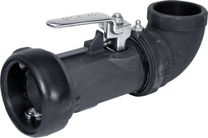 Dixon Bayco 2 in. Bayonet Style 90º Swivel Dry Disconnect Coupling - Buna-N Seal