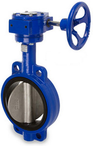 Smith Cooper Series 17 Ductile Iron Gear Operated Butterfly Valve -Wafer Style - 4 in. - EPDM