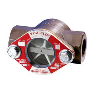 OPW 1/2 in. Carbon Steel VISI-FLO 1500 Series High Pressure Threaded Sight Flow Indicators w/ Propeller