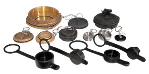 TODO-MATIC & TODO-GAS 2 1/2 in. Stainless Steel Dust Cap w/ Viton Seals for 2 1/2 in. & 3 in. Couplers