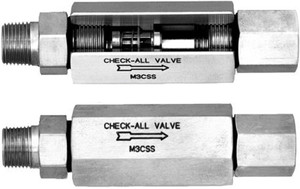 Check-All Valve Mini-Check 316 Stainless Steel Check Valves - 1/4 in. - Female NPT - Male NPT