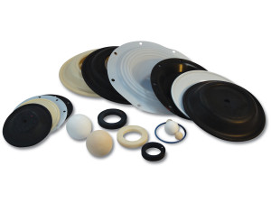 Nomad Elastomer Replacement Santoprene Diaphragms for Wilden 1 in. AODD Pumps - 02-1010-58