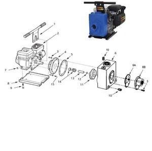 """AMT Impeller (3/4"""" Shaft) for 422 Series 2"""" Dewatering Pumps - Impeller 3/4"""" Shaft - 11"""