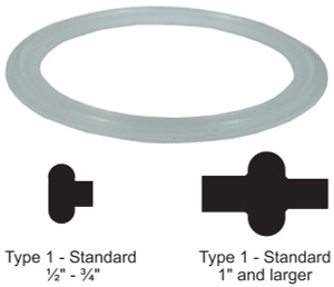 Dixon Sanitary Silicone Gaskets - Clear