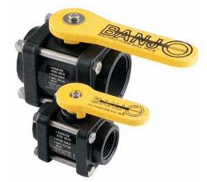 Banjo 1/2 in. To 2 in. Polypropylene 4-Bolt Ball Valves
