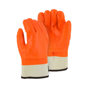 Majestic Orange Safety Cuff Winter Gloves