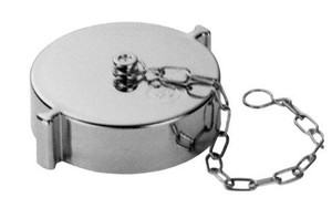 Chromed ABS Plastic Cap & Chain - Rocker Lug