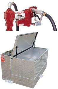 95 Gallon Transfer Tank & Tool Box Combo With Fill-Rite FR1210 Pump