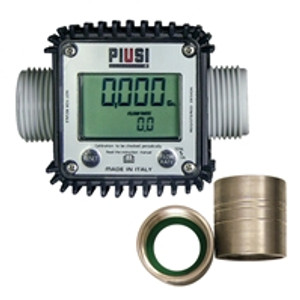Piusi K24 DEF Meter with Adapters - 1 in. BSP x 1 in. NPT