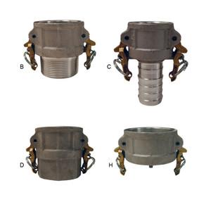 Dixon 1 1/4 in. Aluminum Boss-Lock Cam & Groove Couplers