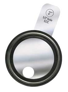 Rubber Fab Tri-Clamp® Orifice Plate Gaskets - Tabbed Style Viton