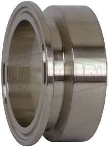 Dixon Sanitary B19MPV Series 316L Stainless Steel Clamp x Schedule 5S Weld Adapters