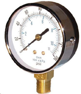Kodiak 2 1/2 in. Lower Mount ABS Dry Gauges