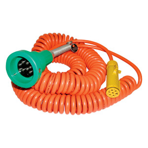 Civacon Green Plug & 30 ft. Coiled Cord w/ Breakaway Plug