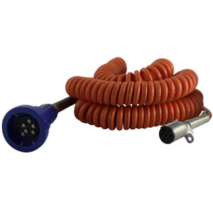 Civacon Blue Plug & Coiled Cord w/ Breakaway Plug