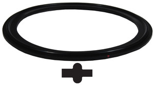 Bradford Buna-N Pipe Gaskets - Black