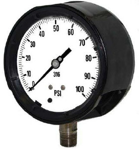 Kodiak 4 1/2 in. Dial Process Pressure Gauges