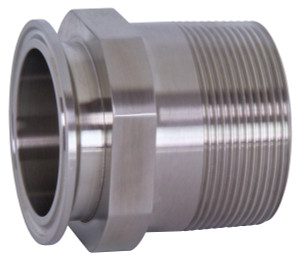 Dixon Sanitary 21MP Series 304 Stainless 1 1/2 in. Clamp x Male NPT Adapters