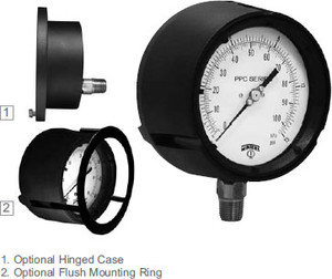 Winters 4 1/2 in. Process Gauges Liquid Fillable