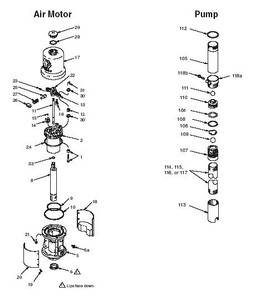 Graco Fire-Ball 300 5:1 Pump Parts