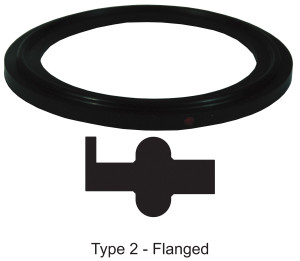Bradford Flanged Buna-N Gaskets - Black