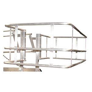 Green Rail Safety Cages