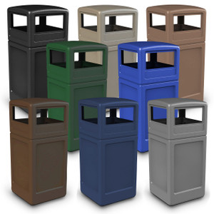 Commercial Zone 42 Gal Square Waste Containers with Dome Lid