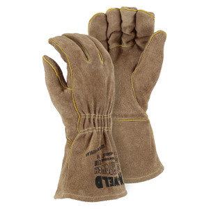 Majestic Leather Straight Thumb Kevlar Sewn Welders Glove