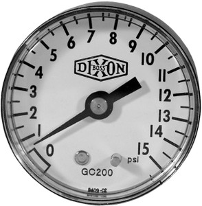 Dixon 2 in. Face Back Mount ABS Case Dry Gauges