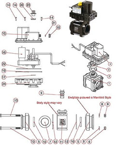 Banjo Replacement Actuator Motor Assembly for Banjo 3/4