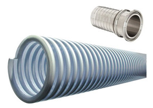 Kuriyama MILK Series 1 1/2 in. Food Grade PVC Liquid Suction Hose Assemblies w/ Triclamp Ends