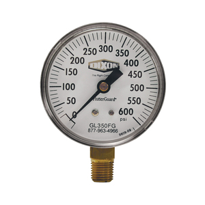 Dixon 2 in. Lower Mount FlutterGuard Dry Gauge