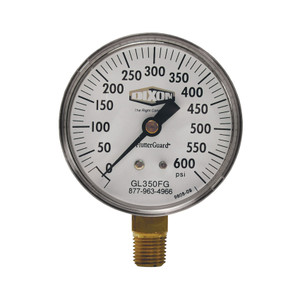 Dixon 2 1/2 in. Lower Mount FlutterGuard Dry Gauge