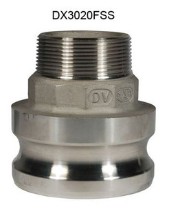 Dixon Stainless Steel Part F Reducing Male Adapter x Male NPT Coupling