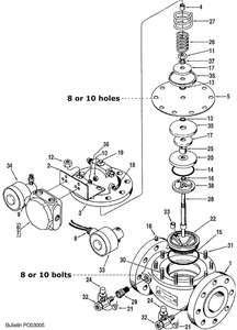 "Smith 4"" 210 Control Valve Replacement Parts"
