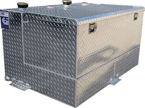 95 Gal. DOT Aluminum L -Shaped Split Two Fuel Refueling Transfer Tank with Toolbox
