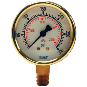 Dixon 2 1/2 in. Face Lower Mount Brass Standard Dry Gauges