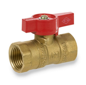 Smith Cooper Series 200 Forged Brass Two Piece FIP X FIP Gas Valve