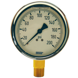 Dixon 2 1/2 in. Lower Mount Brass Liquid Filled Gauges