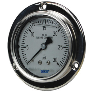 Dixon 2 1/2 in. Face Lower Back Mount Stainless Panel Builder Gauges