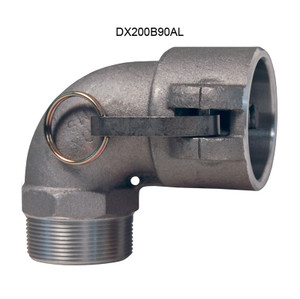 Dixon Aluminum Female Coupler x Male NPT 90° Elbow