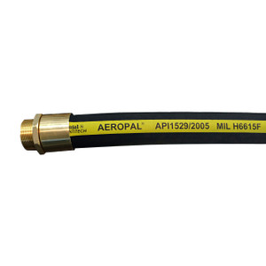 Continental ContiTech AEROPAL Type C 1 in. Regular Temp Aviation Fueling Hose Assemblies w/ Brass NPT Ends