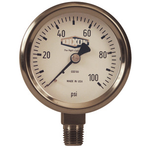 Dixon 2 1/2 in. Lower Mount Stainless Steel Dry Gauges
