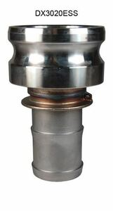 Dixon Stainless Steel Part E Reducing Male Adapter x Hose Shank Coupler