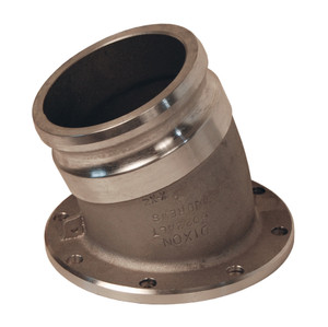 Dixon 4 in. Aluminum 22 1/2° Angle Adapter x TTMA Flange Fitting