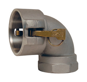 Dixon Aluminum Female Coupler x Female NPT 90° Elbow
